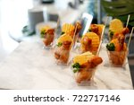 fried chicken and potato chips... | Shutterstock . vector #722717146