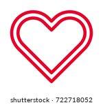 heart vector outline icon | Shutterstock .eps vector #722718052