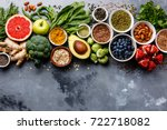 healthy food clean eating... | Shutterstock . vector #722718082