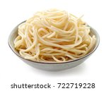 bowl of spaghetti isolated on... | Shutterstock . vector #722719228