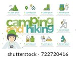 camping and hiking infographics ... | Shutterstock .eps vector #722720416