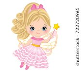 vector cute little fairy with... | Shutterstock .eps vector #722720965