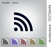 wi fi icon | Shutterstock .eps vector #722726656
