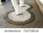 Decorative Pebbles Around The...