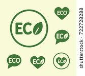 eco logo round shape green... | Shutterstock .eps vector #722728288