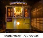 trolley car at night | Shutterstock . vector #722729935