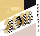 happy new year 2018 vector... | Shutterstock .eps vector #722730022