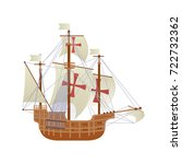 happy columbus day national usa ... | Shutterstock .eps vector #722732362