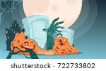 happy halloween party banner... | Shutterstock .eps vector #722733802