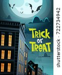 halloween party banner trick or ... | Shutterstock .eps vector #722734942