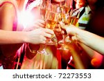 close up of people making good... | Shutterstock . vector #72273553