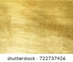 shiny yellow leaf gold foil... | Shutterstock . vector #722737426
