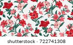 Stock vector seamless floral pattern in vector 722741308