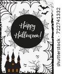 halloween poster. happy... | Shutterstock .eps vector #722741332