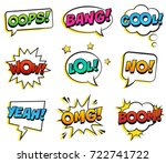 retro colorful comic speech... | Shutterstock .eps vector #722741722