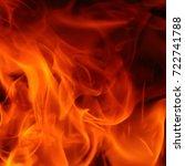 blaze fire flame texture... | Shutterstock . vector #722741788