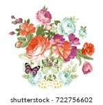 butterfly love of flowers  the... | Shutterstock . vector #722756602