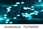 Stock photo cloud computing online storage for fintech iot computer network connectivity for devices 722760352