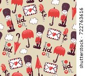 funny vector childish british... | Shutterstock .eps vector #722763616