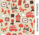 london funny childish pattern | Shutterstock .eps vector #722763622