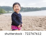 baby cute girl laughing with... | Shutterstock . vector #722767612