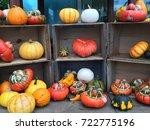 display arrangement rare spooky ... | Shutterstock . vector #722775196