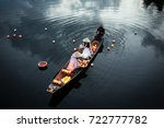 river lanterns and traditional... | Shutterstock . vector #722777782