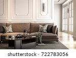 interior living studio  modern... | Shutterstock . vector #722783056