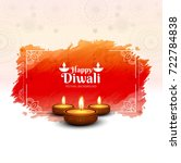 modern happy diwali background | Shutterstock .eps vector #722784838