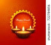 modern elegant diwali design | Shutterstock .eps vector #722784856