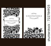 vintage delicate invitation... | Shutterstock .eps vector #722784925
