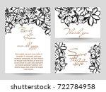 vintage delicate invitation... | Shutterstock .eps vector #722784958