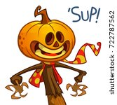 halloween pumpkin. vector jack...   Shutterstock .eps vector #722787562