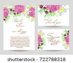 romantic invitation. wedding ... | Shutterstock .eps vector #722788318