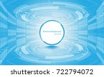 circle empty space on blue... | Shutterstock .eps vector #722794072