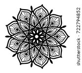 mandalas for coloring book.... | Shutterstock .eps vector #722794852