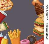fast food frame | Shutterstock .eps vector #722801422
