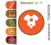 flat icon. baby clothes. | Shutterstock .eps vector #722802028