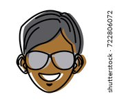 young man with sunglasses... | Shutterstock .eps vector #722806072