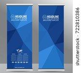 roll up business brochure flyer ...   Shutterstock .eps vector #722810386