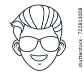 young man with sunglasses... | Shutterstock .eps vector #722813008