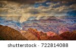 rain over the grand canyon | Shutterstock . vector #722814088