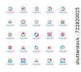 health care logo set. contains... | Shutterstock .eps vector #722820025