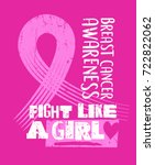 breast cancer awareness month... | Shutterstock .eps vector #722822062