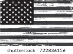 grunge usa flag. black and... | Shutterstock .eps vector #722836156