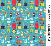 hotel stuff seamless pattern... | Shutterstock .eps vector #722838496