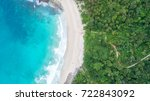 sea aerial view top view... | Shutterstock . vector #722843092