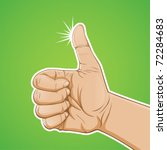 hand thumbs up with green... | Shutterstock .eps vector #72284683