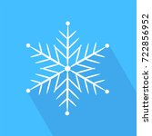 icon snowflake on a blue...   Shutterstock .eps vector #722856952
