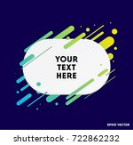 modern text box with colorful... | Shutterstock .eps vector #722862232